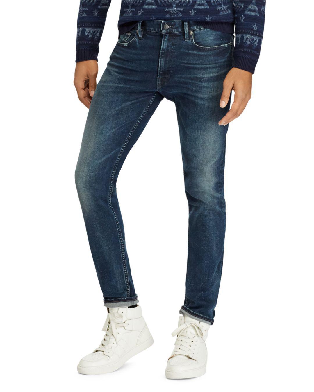 4f2b4a6c4 Lyst - Polo Ralph Lauren Men s Slim Fit Jeans - Blue - Size 30x32 in ...