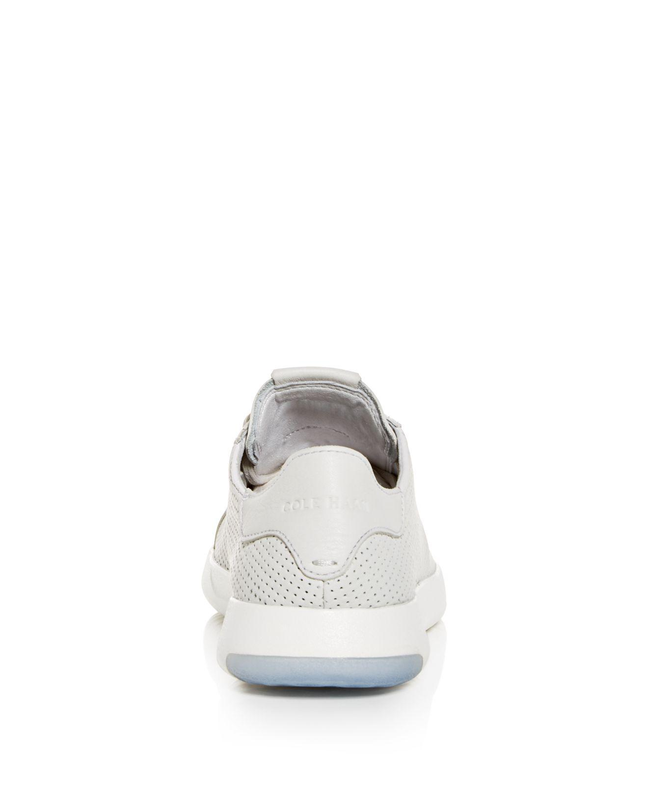 Cole Haan Men's GrandPro Deconstructed Perforated Leather Lace Up Sneakers