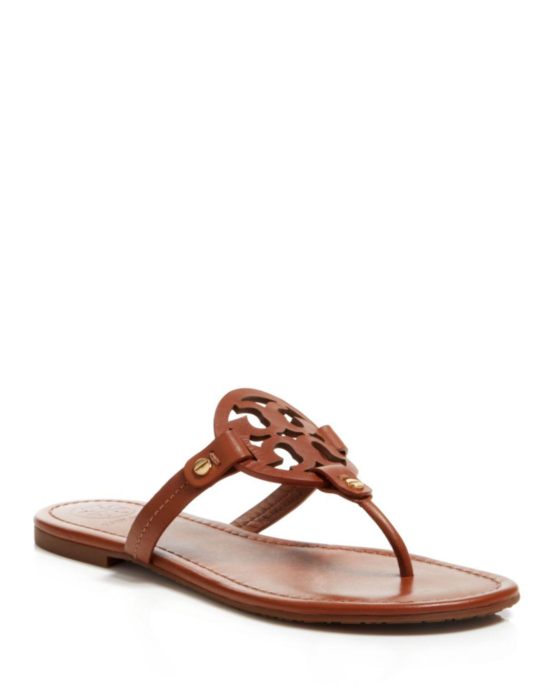 8019116d1016d Lyst - Tory Burch Flat Thong Sandals - Miller in Brown - Save 19%