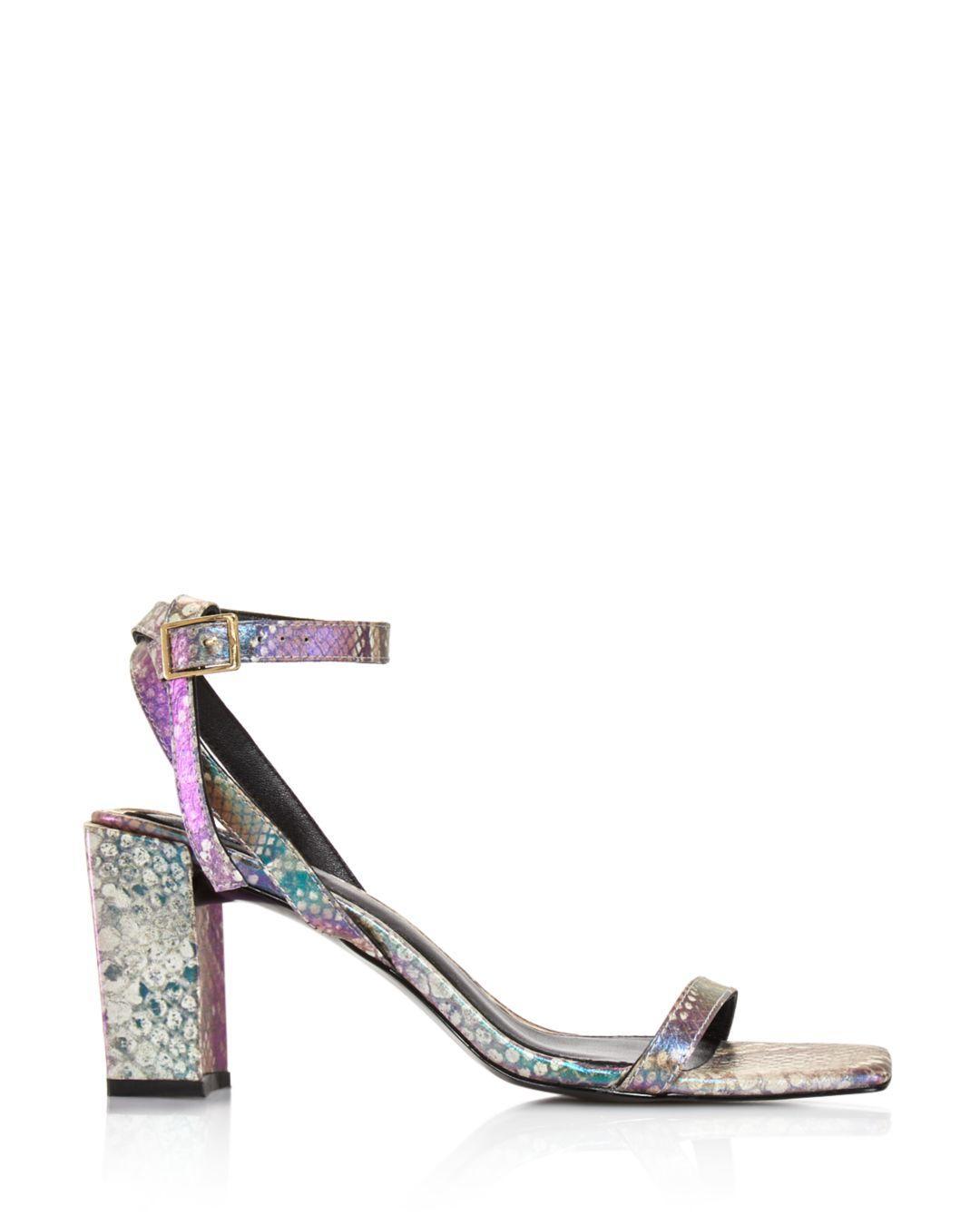 17e3eafc69de Jaggar - Multicolor Women's Essential Snake - Print Block Heel Sandals -  Lyst. View fullscreen