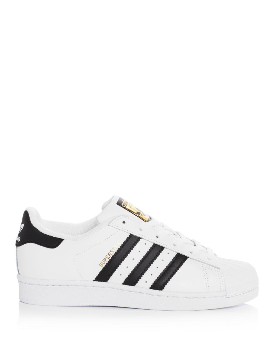 4f8ea230eb50 adidas Women s Superstar Lace Up Sneakers in White - Lyst