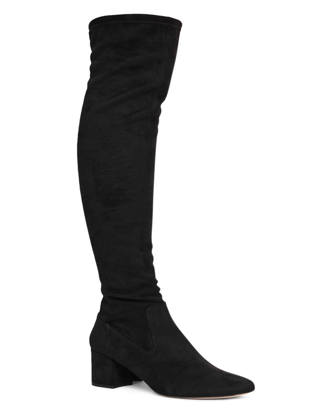 a7b95f0cd417 Lyst - Reiss Women s Margi Over-the-knee Suede Boots in Black