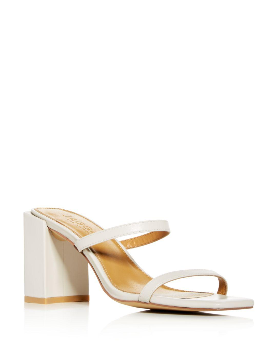 28c58c26a4d Jaggar - Natural Women s Square Block-heel Slide Sandals - Lyst. View  fullscreen