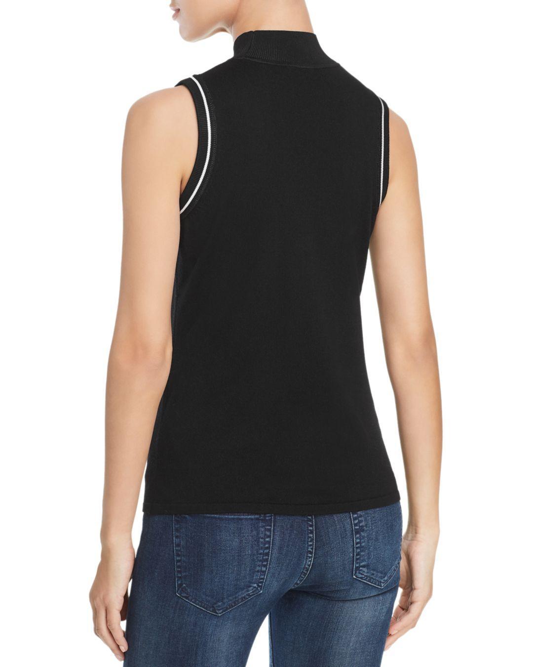 9bbd65ea235bb Lyst - Elie Tahari Joan Sleeveless Merino Wool Sweater in Black