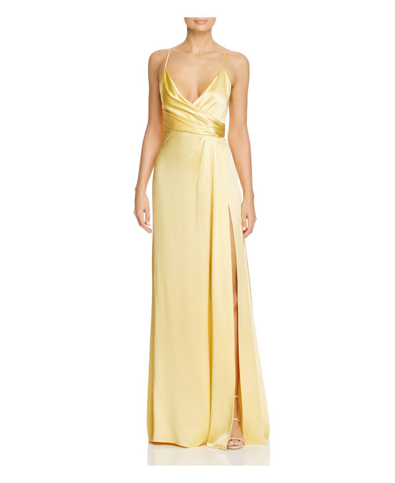 Jill Jill Stuart Crossover Slip Gown In Yellow Lyst