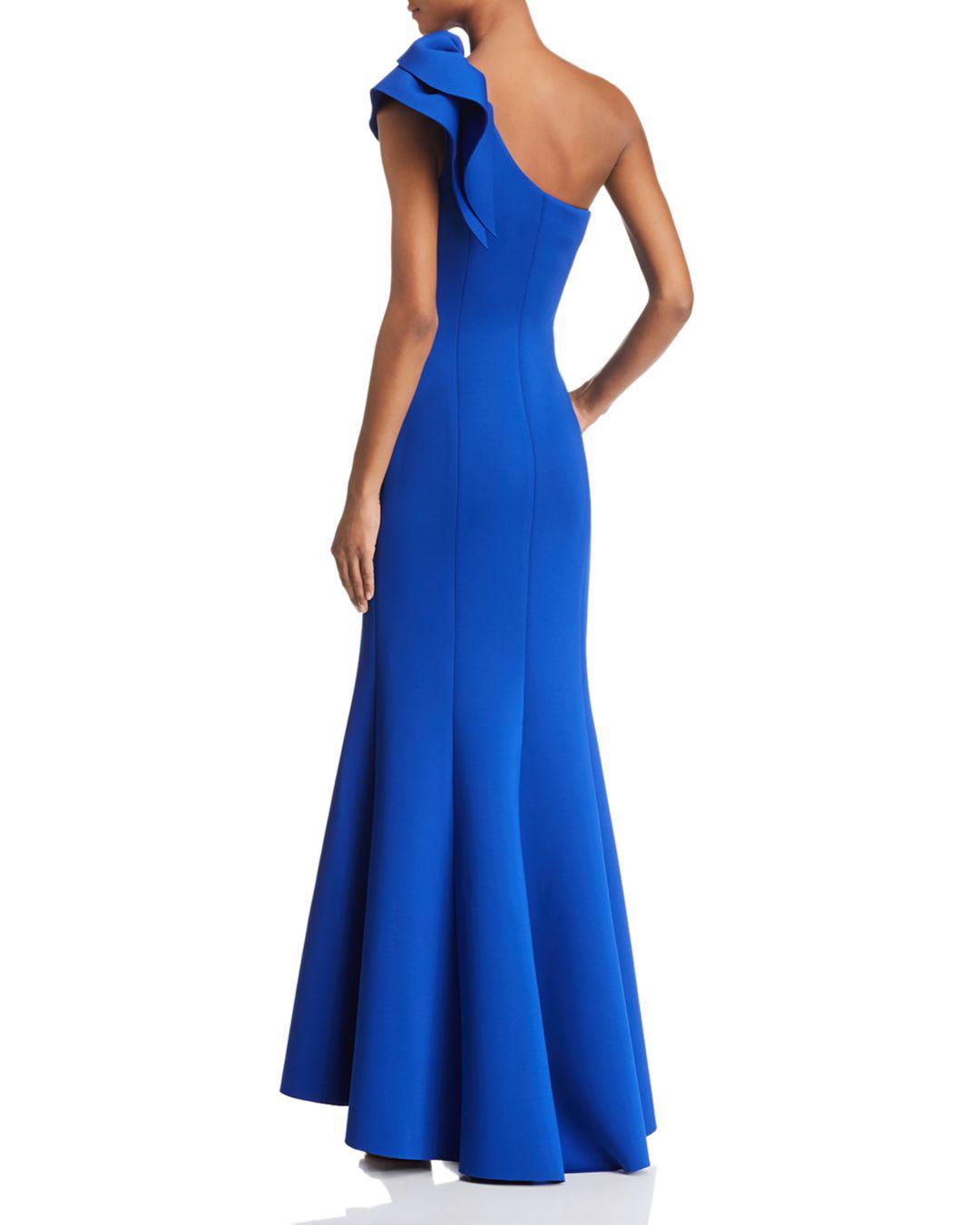778f792187 Eliza J One-shoulder Scuba Gown in Blue - Lyst