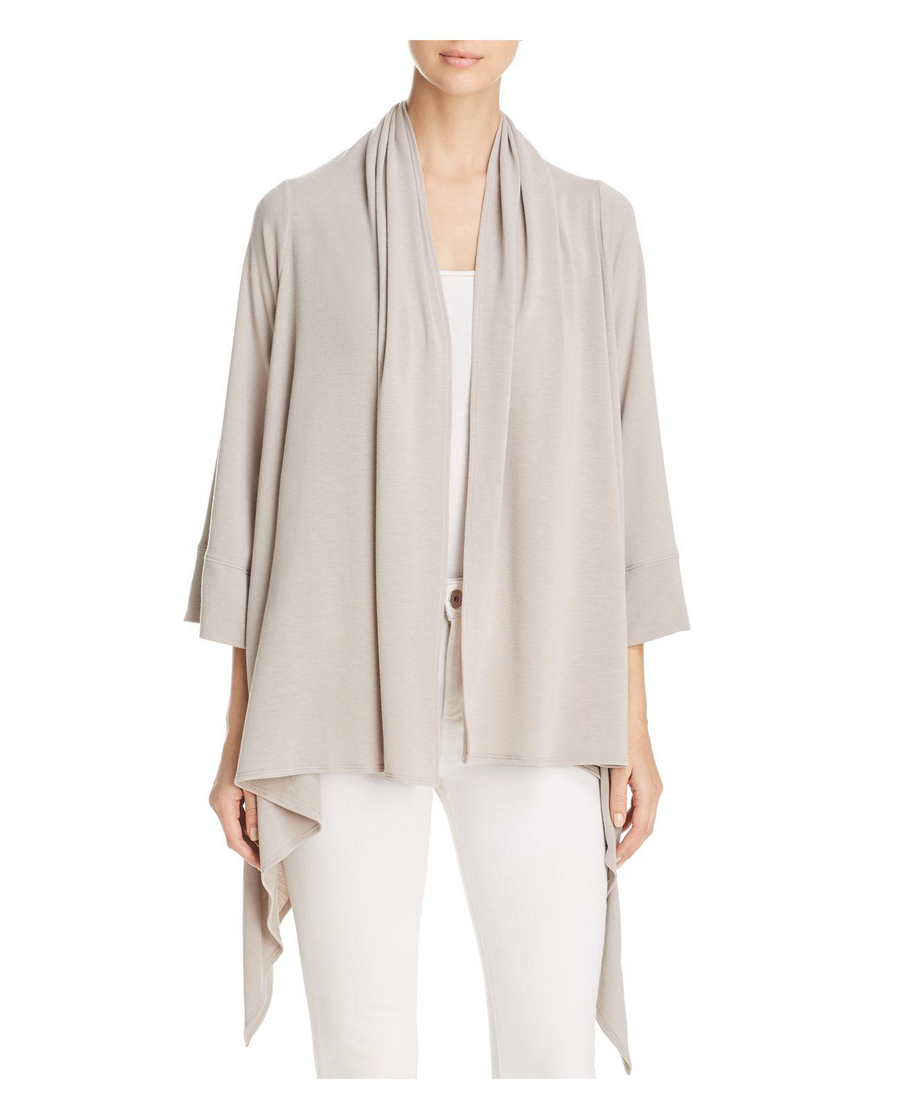Nally & millie Open Waterfall Cardigan | Lyst
