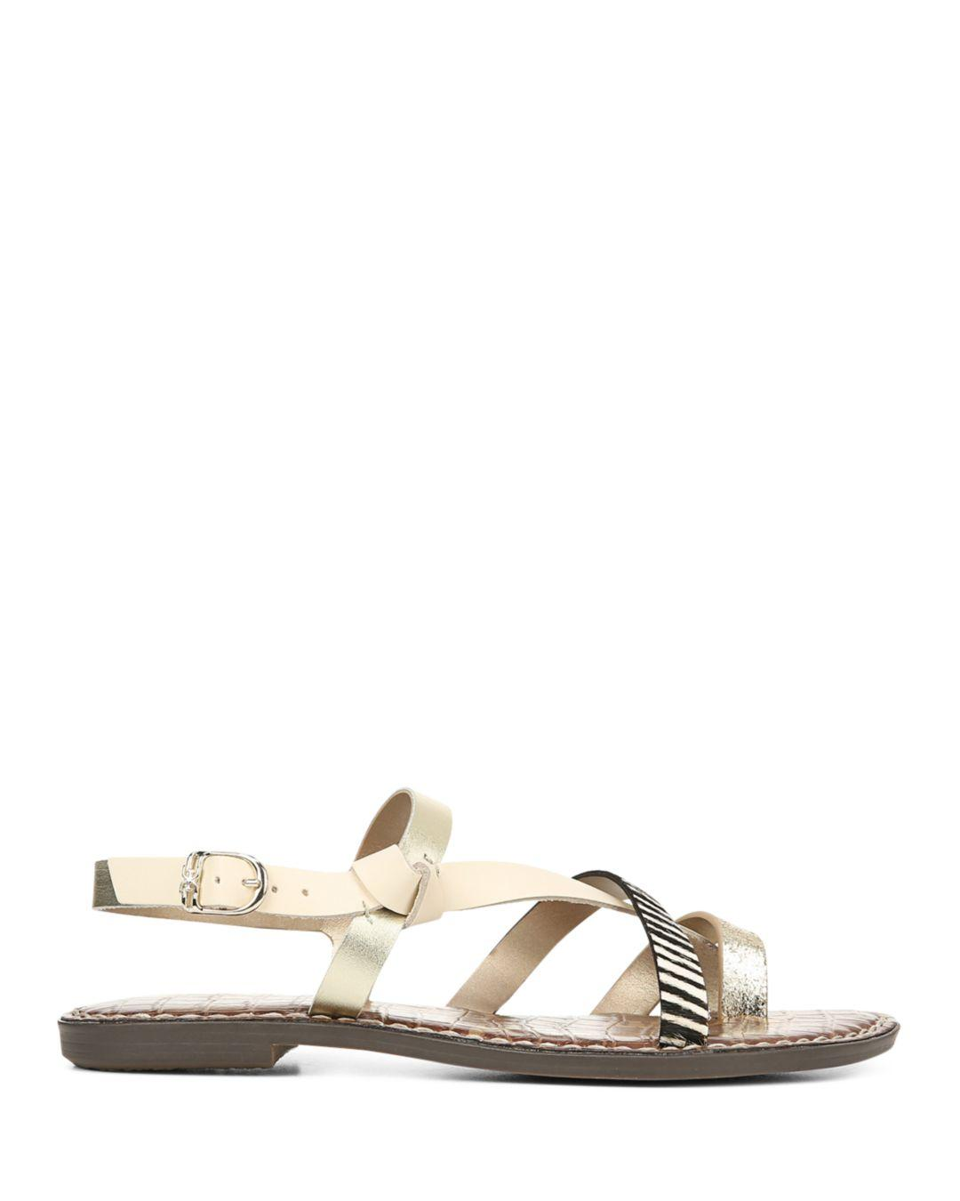 55a6b75fc6e6 Lyst - Sam Edelman Women s Gladis Strappy Knotted Sandals in Metallic