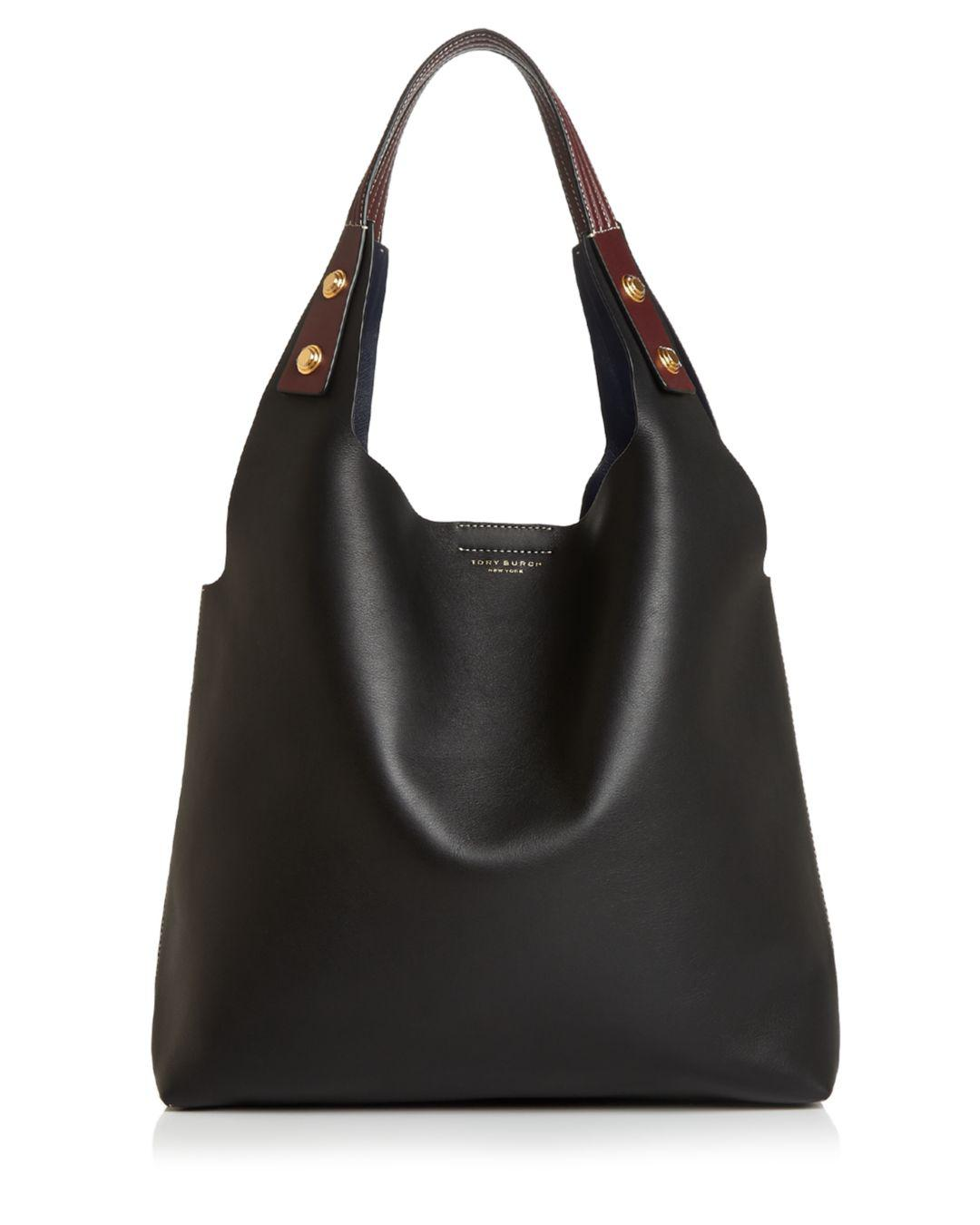 6fe8a973f359 Tory Burch Rory Large Leather Tote in Black - Lyst