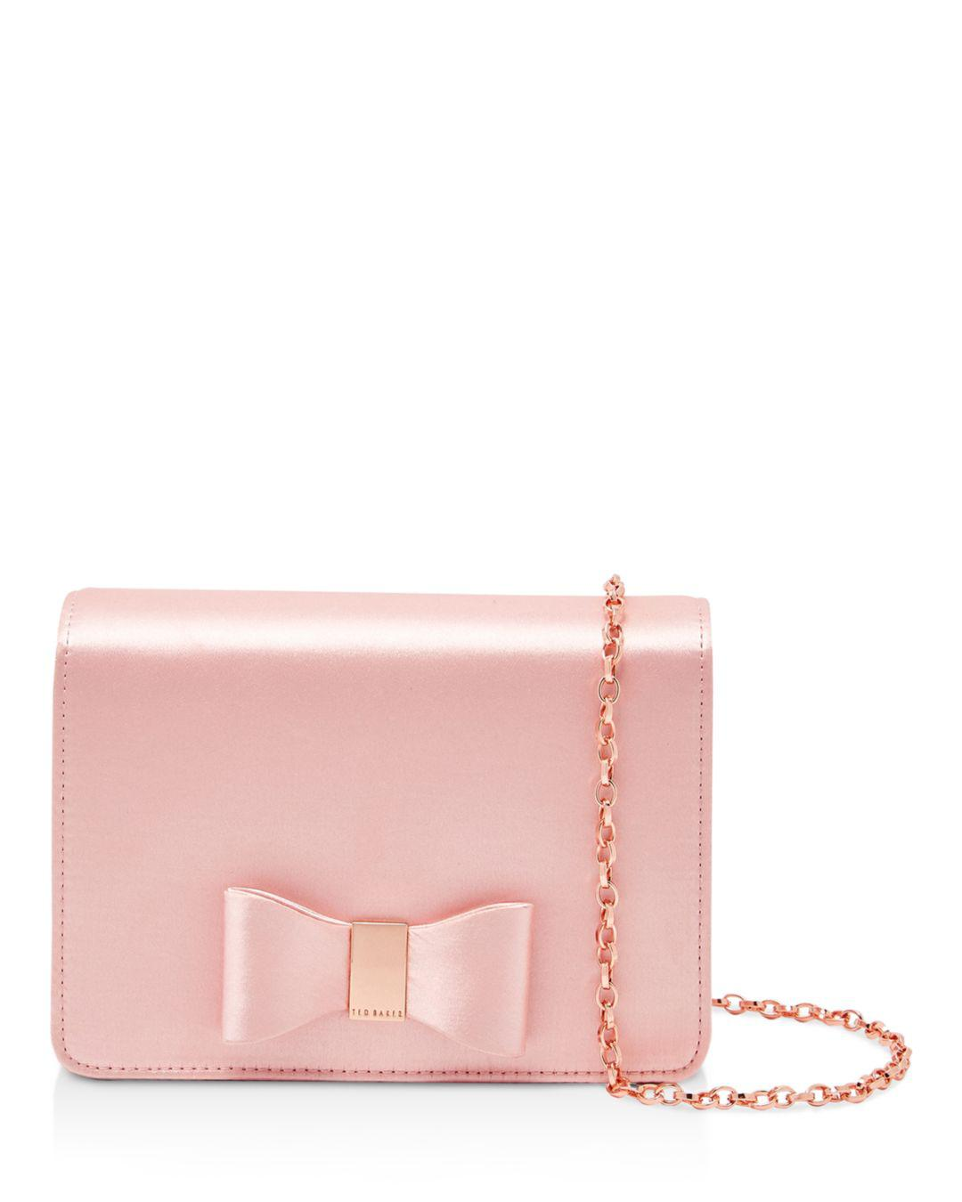 0d5d97cb5bbf0 Lyst - Ted Baker Eveelyn Small Evening Bag in Pink