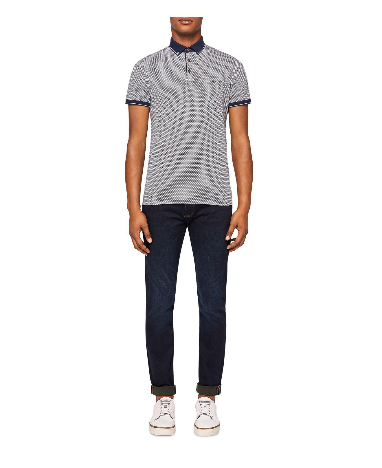 6679fdde001178 Lyst - Ted Baker Scamp Straight Fit Jeans In Dark Wash in Blue for Men