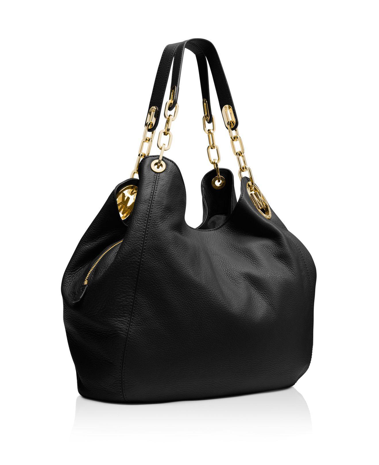 f15872b6b676 Large Fulton Black Bag With Silver Hardware. Lyst - Michael Kors Fulton  Medium Shoulder ...