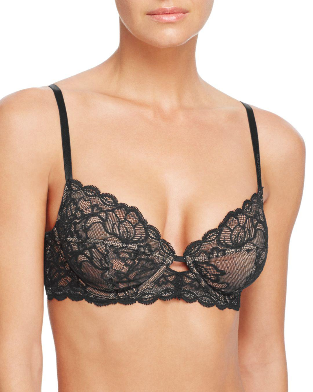 39d7f51e2e Calvin Klein Qf1741 Seductive Comfort With Lace Multi Part Cup Bra ...