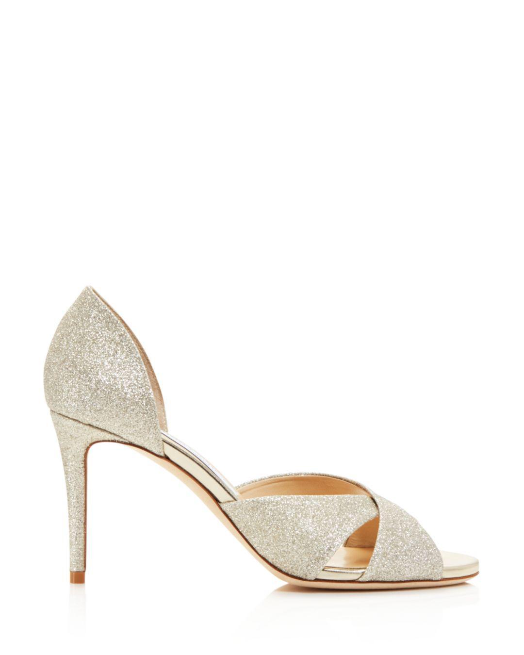 6afd0ed9be8 Lyst - Jimmy Choo Women s Lara 85 Glitter D orsay High-heel Sandals in  Metallic