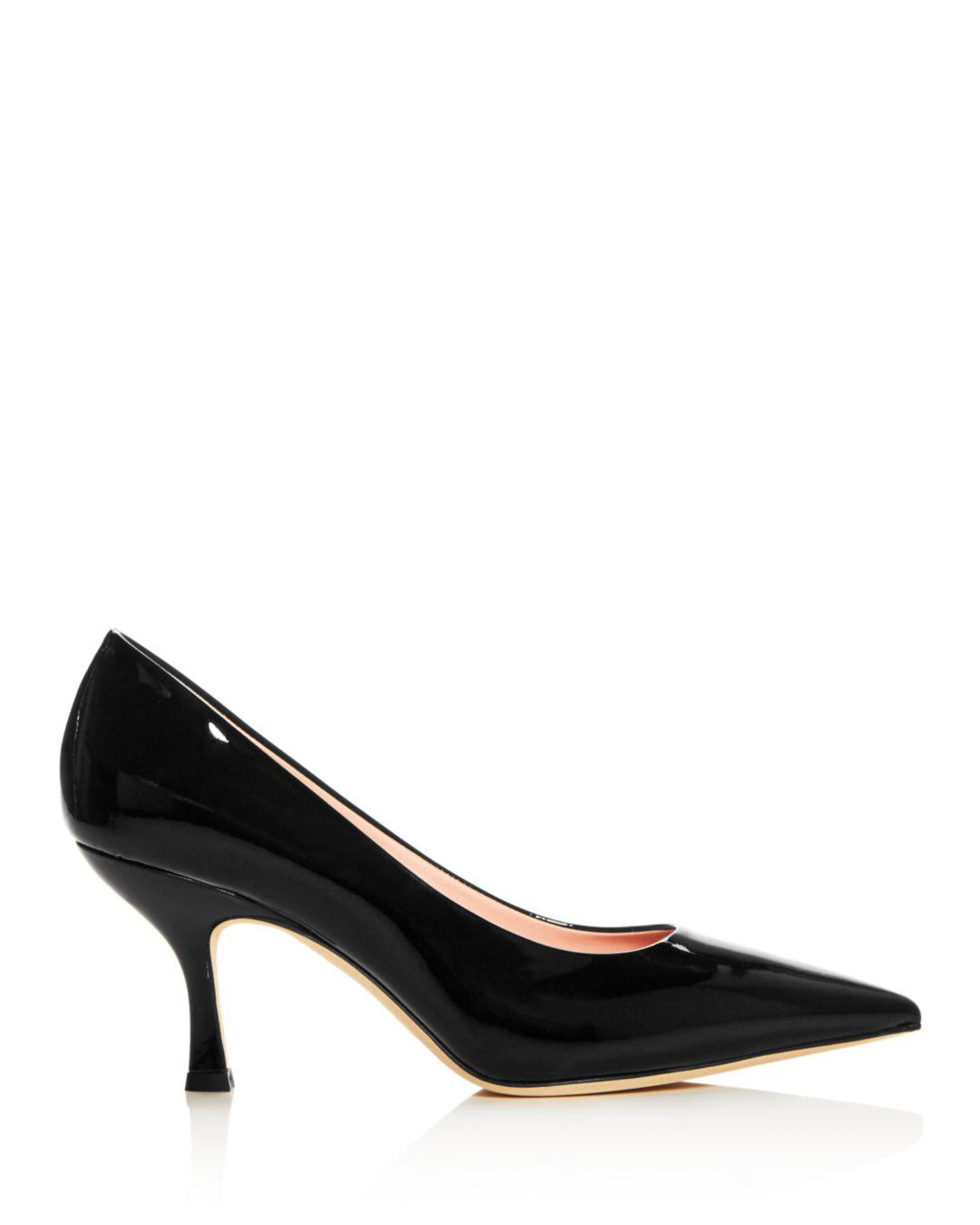 9409dd2a8cb7 Lyst - Kate Spade Women s Sonia Patent Leather Kitten-heel Pumps in Black