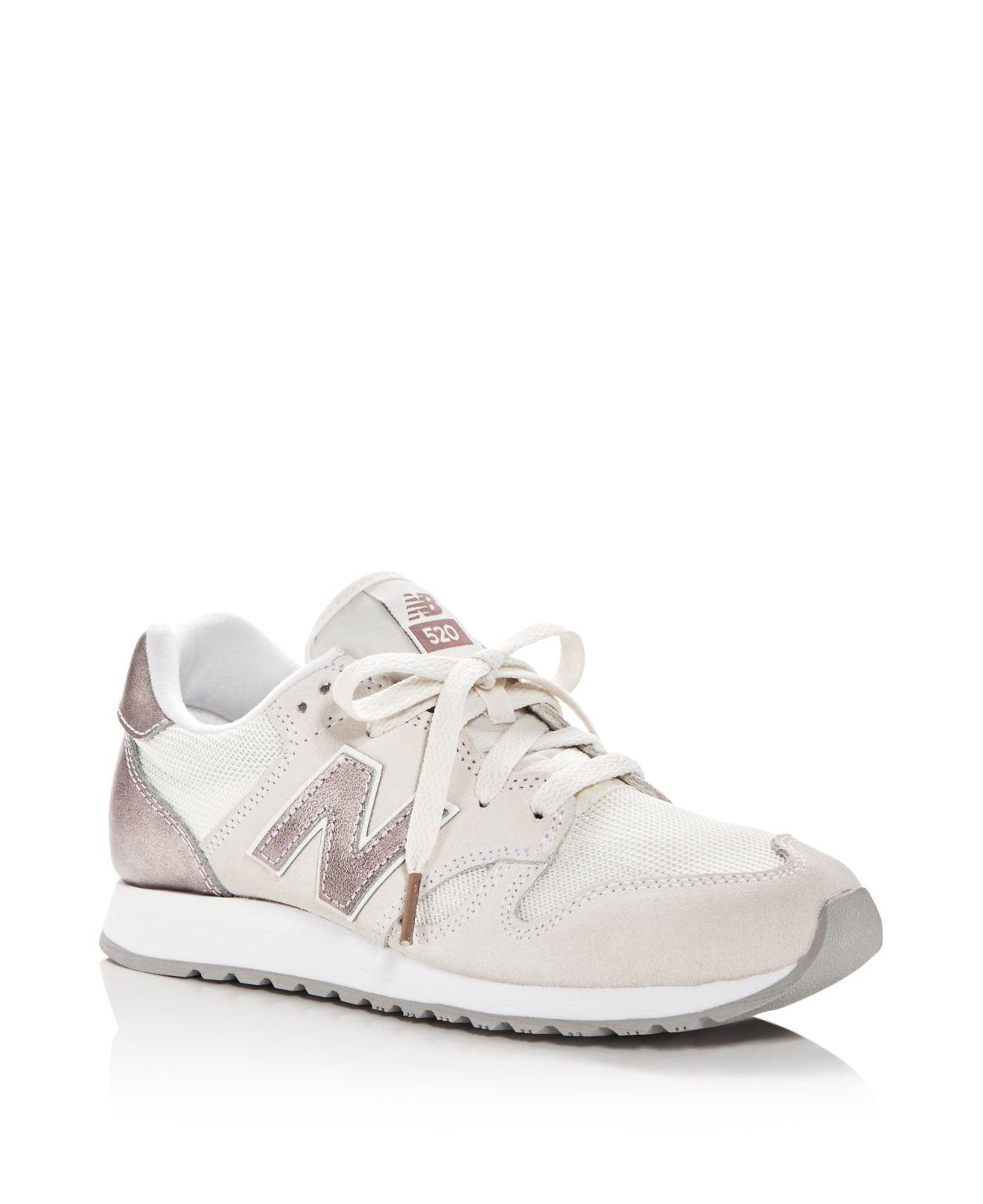 Lyst - New Balance Women s 520 Lace Up Sneakers in White 327256a3f7