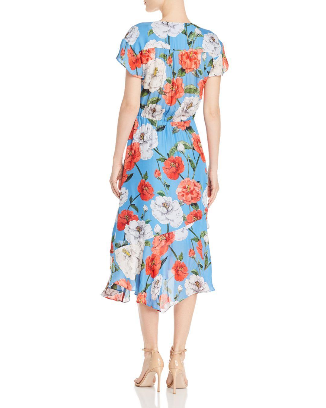 0a2ec844 Parker Reina Floral Print Midi Dress in Blue - Lyst