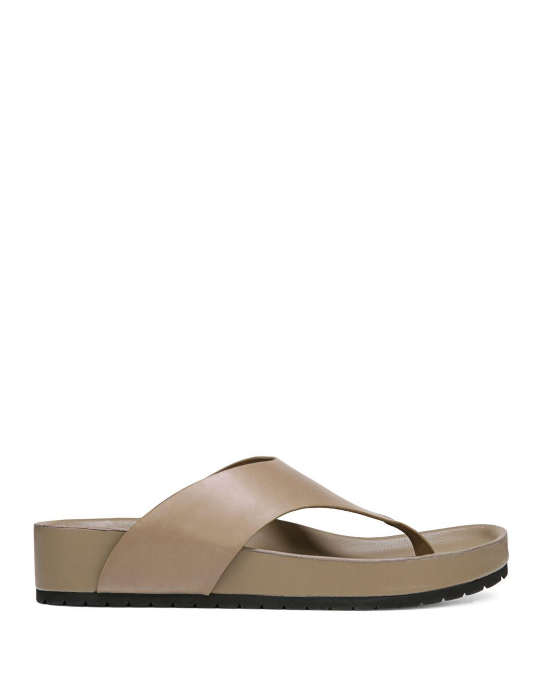 76295789138fee Vince Women s Padma Leather Thong Sandals in Brown - Lyst