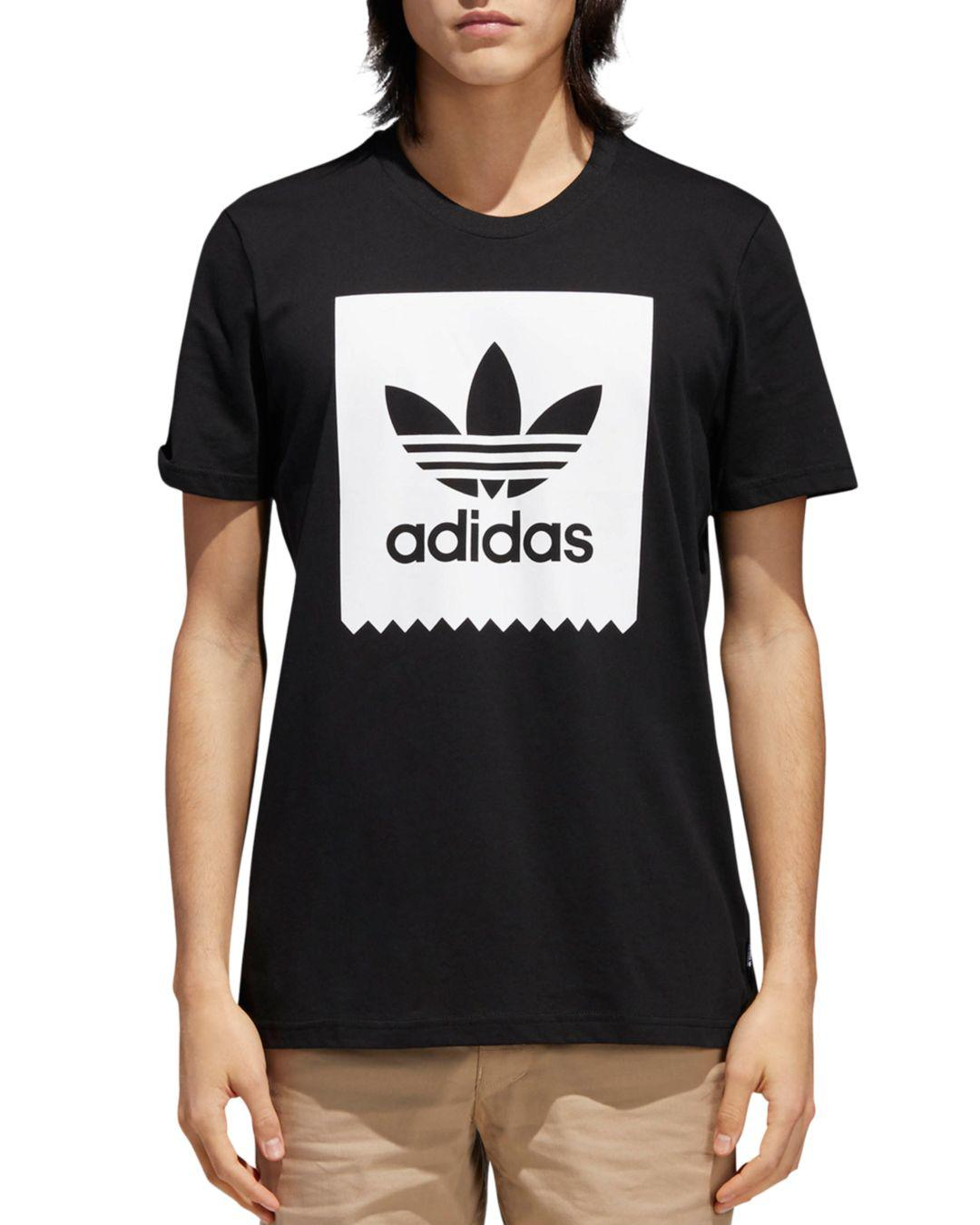 d866a0353d Adidas Originals Logo-print Graphic Tee in White for Men - Lyst