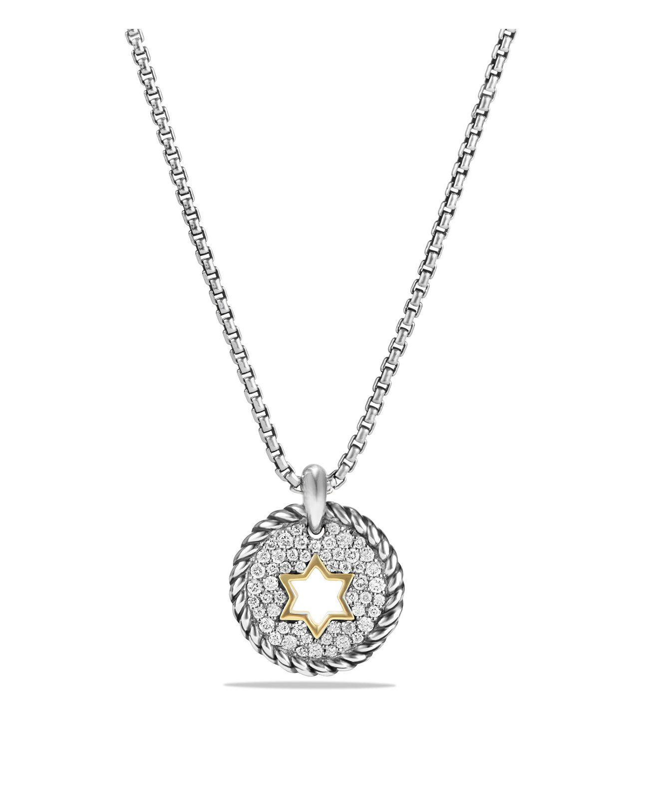 18kt yellow gold Cable Collectibles petit diamond pav O8w07