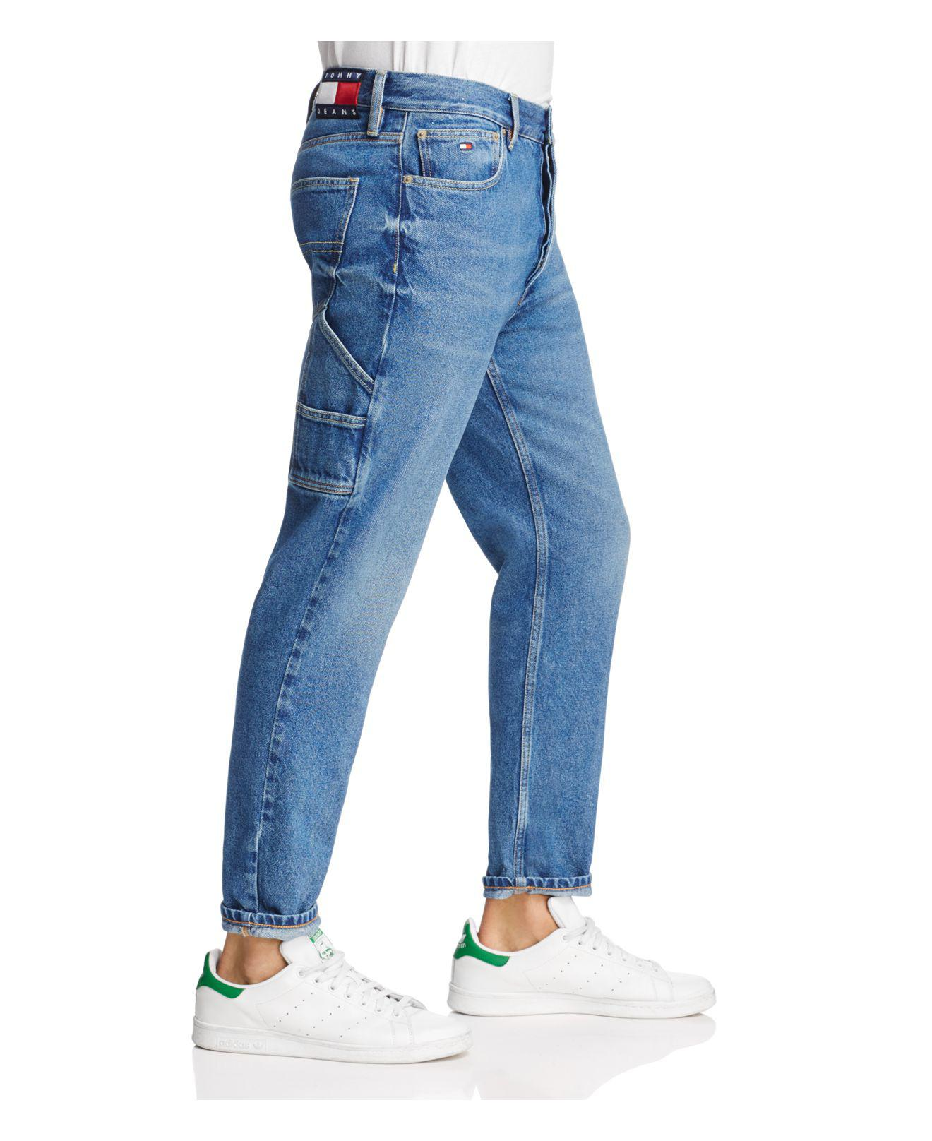 435f82ca Tommy Hilfiger Tapered Fit Carpenter Jeans In Dark Wash in Blue for ...