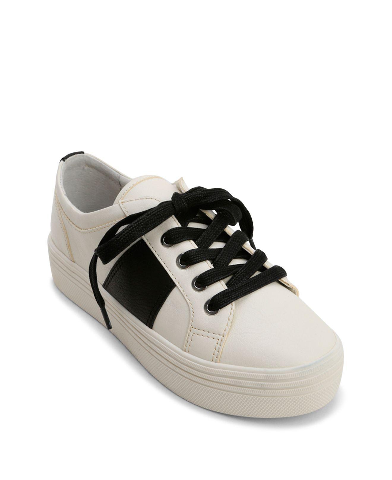 Dolce Vita Women's Tavina Leather Lace Up Platform Sneakers gWbXRwuk