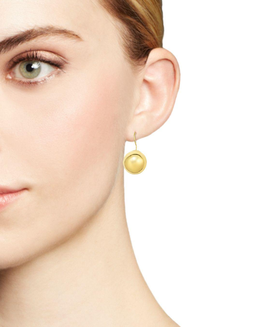 173a4a93f Lyst - Bloomingdale's 14k Yellow Gold Ball Earrings in Metallic
