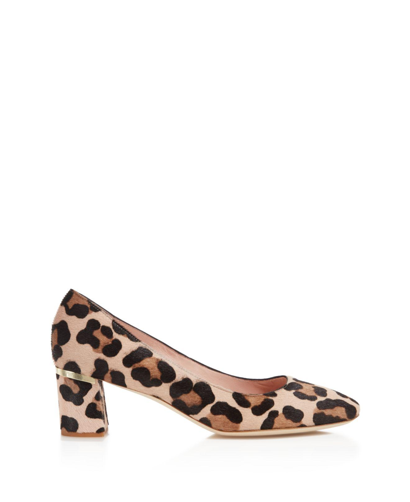 6aaca44cdfef Lyst - Kate Spade Dolores Too Leopard Print Calf Hair Pumps in Brown