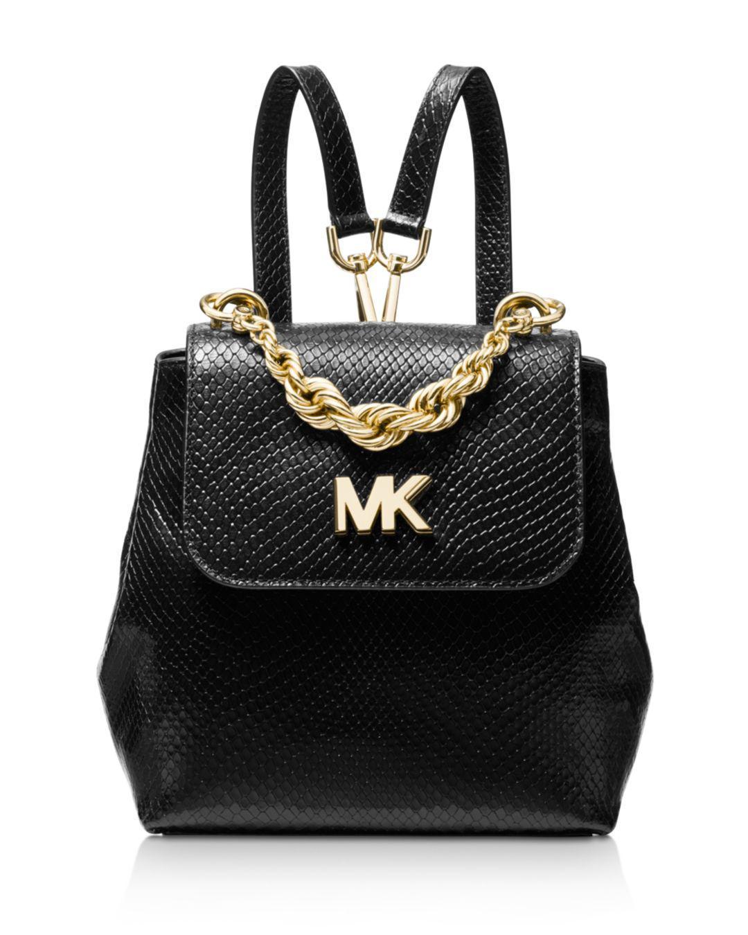 2a362eddaa8b MICHAEL Michael Kors Mott Mini Twist Chain Messenger Backpack in ...