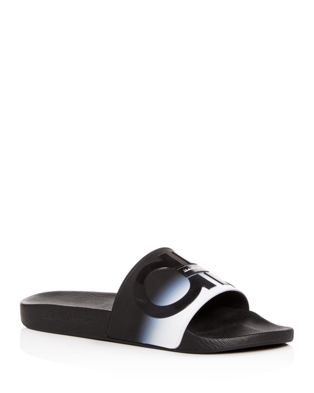 5f5ceaac1f0d Ferragamo Men s Groove Slide Sandals in Black for Men - Lyst