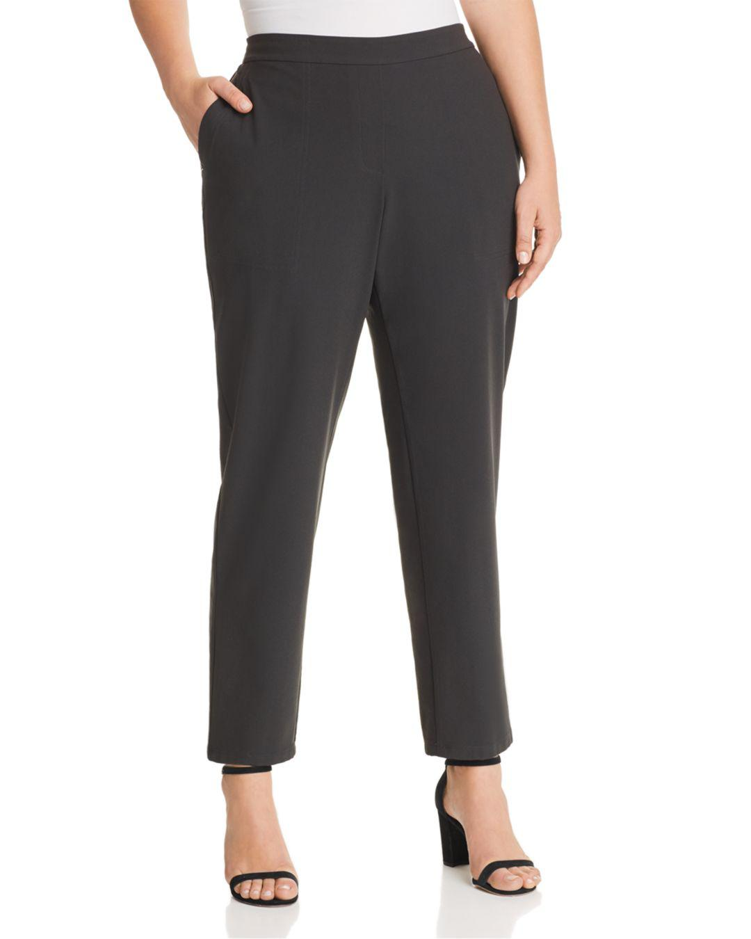 91e5f2a43a9 Lyst - Lafayette 148 New York Fulton Straight-leg Pants in Black