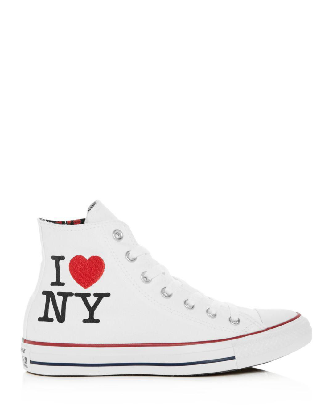 b378bee37f40 Converse Women s Chuck Taylor All Star I Love Ny High Top Sneakers ...