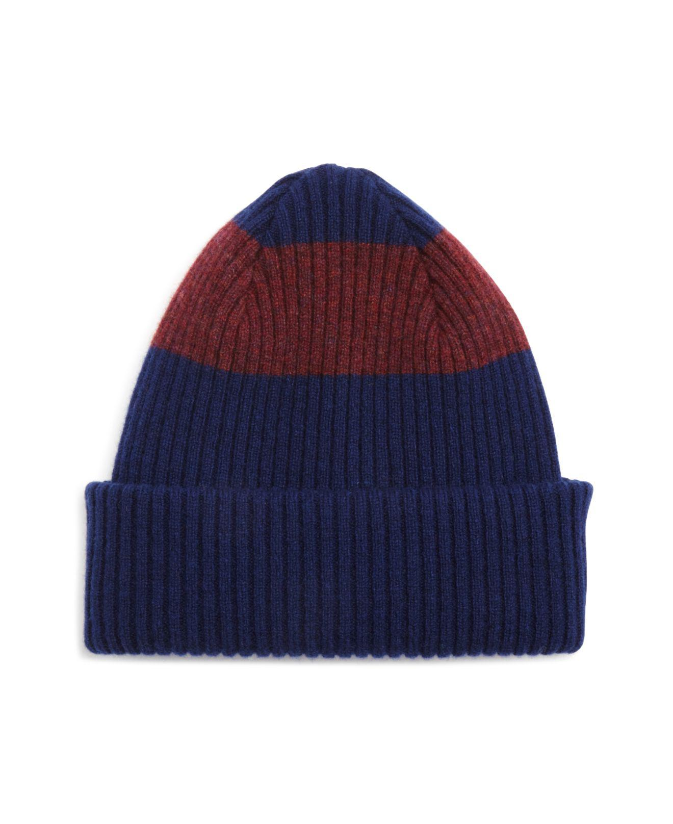 Ribbed-knit lambswool beanie hat Paul Smith iJt82g7Trx