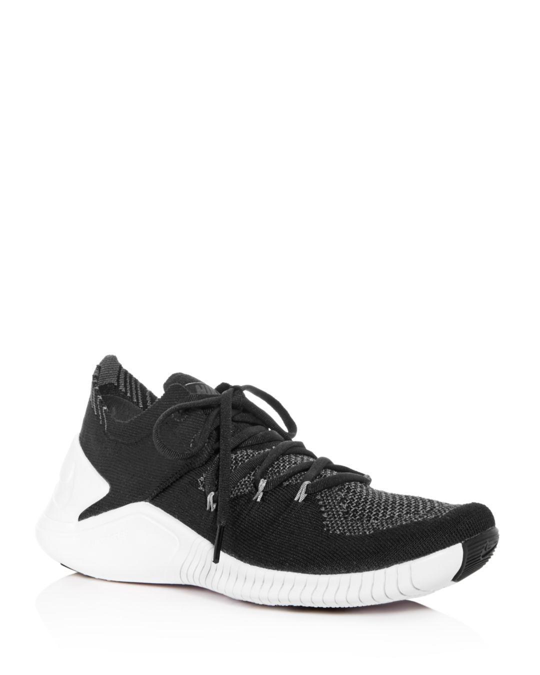 bdb330cf6322b Lyst - Nike Women s Free Tr 3 Flyknit Low-top Sneakers in Black ...
