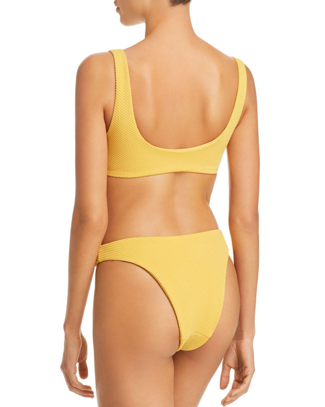 041b3792ca Lyst - MINKPINK Alexa Mid-rise Bikini Bottom in Yellow