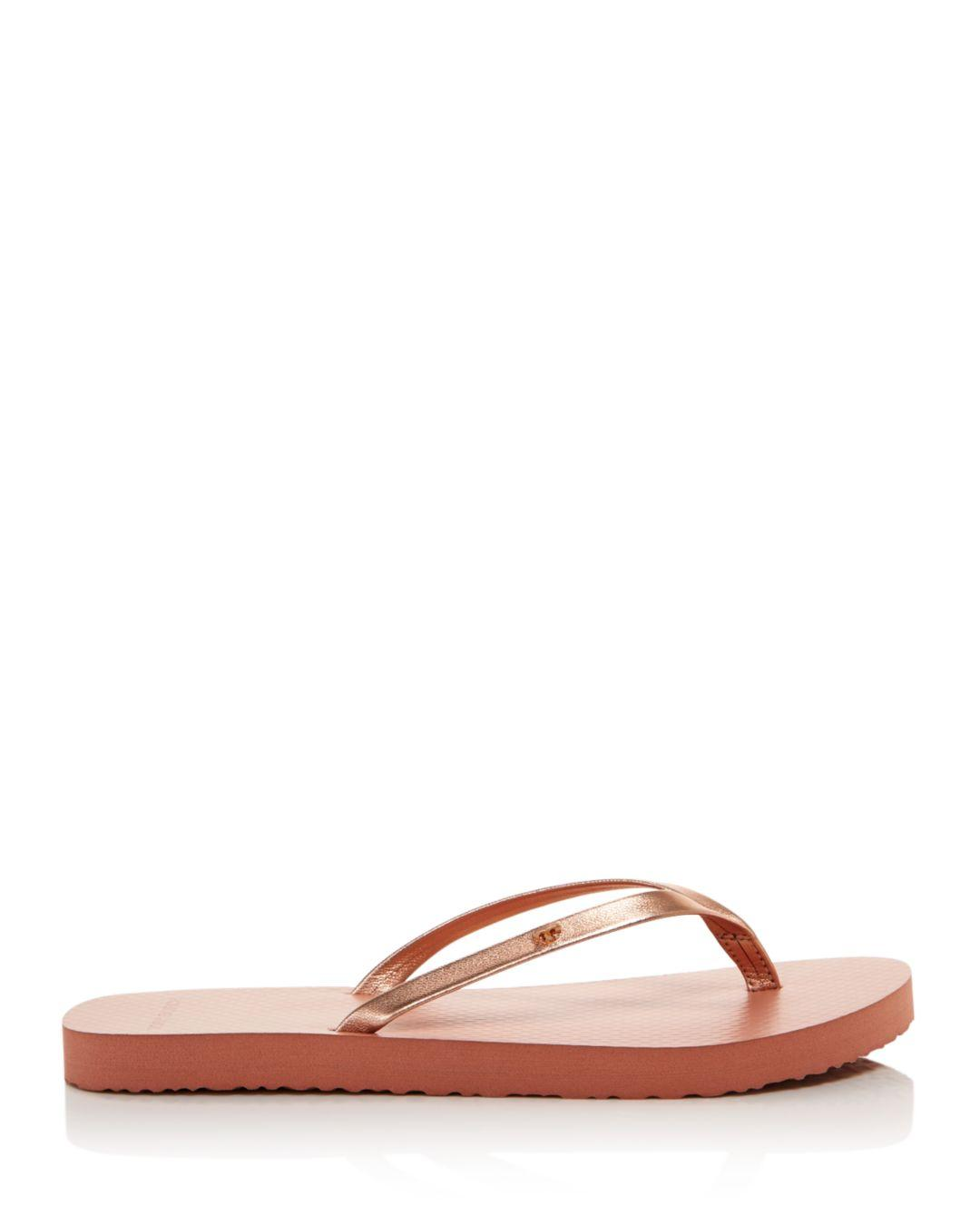 ea12d56ae49 Lyst - Tory Burch Women s Metallic Leather Thong Sandals in Metallic