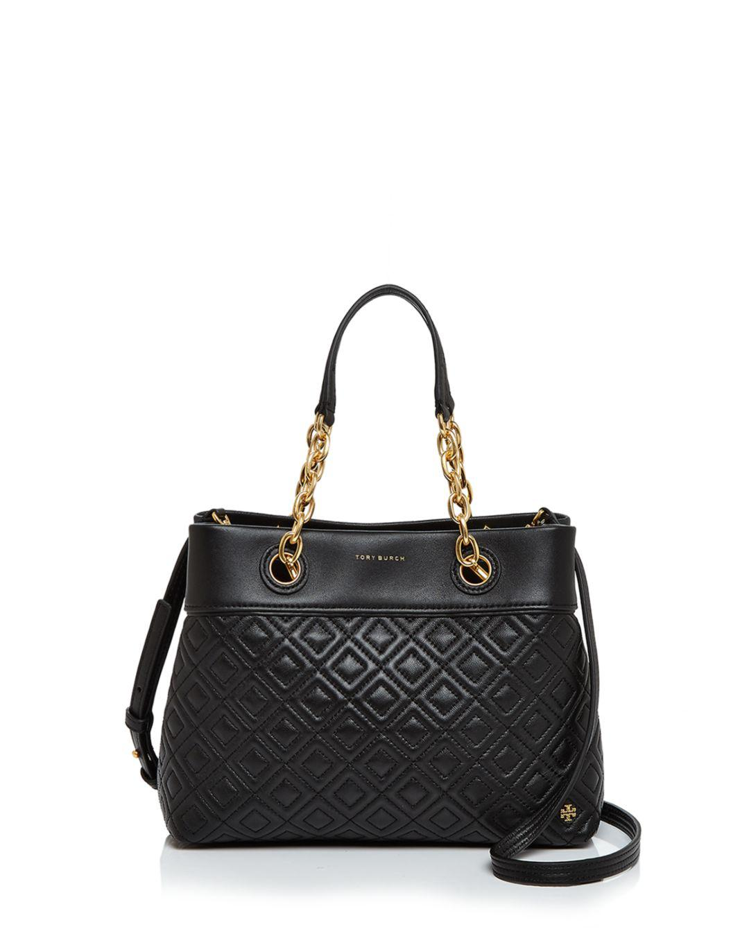 e4c094ce171 Tory Burch - Black Fleming Small Leather Tote - Lyst. View fullscreen