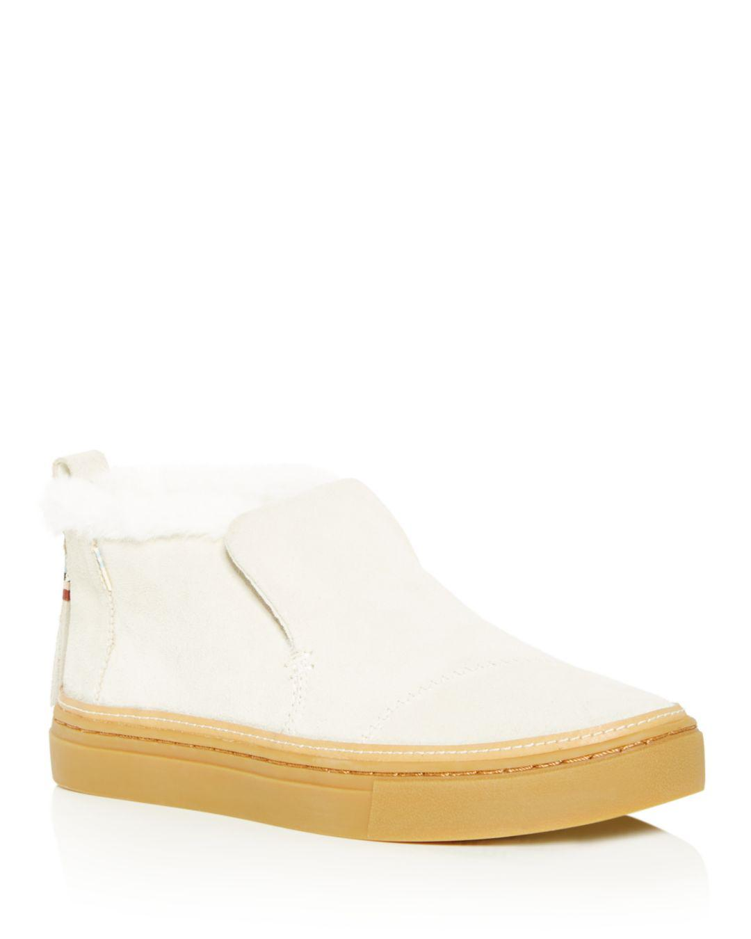 131109a58f6 Toms Women s Paxton Faux-fur Sneakers in Natural - Lyst