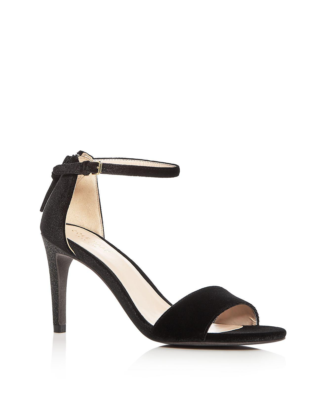 Cole Haan Women's Clara Velvet Ankle Strap Sandals L69w4ub