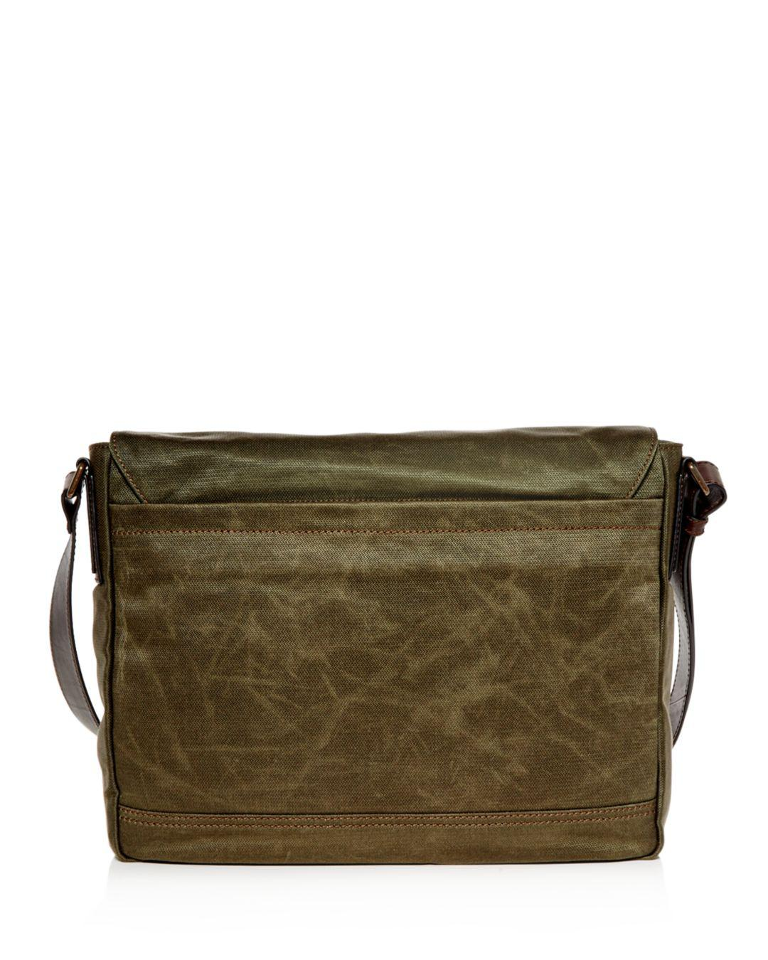 b6618eb8cb Frye - Green Carter Waxed Canvas Messenger Bag for Men - Lyst. View  fullscreen