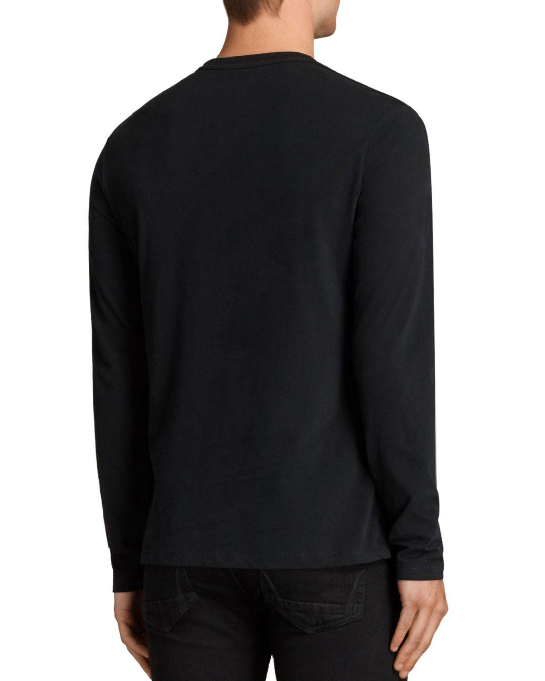 b5a03cd2 AllSaints Brace Long Sleeve Tee in Black for Men - Save 78% - Lyst