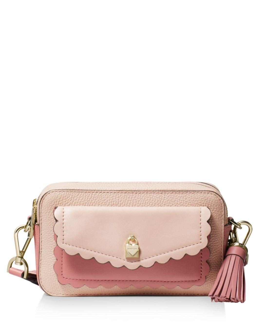 83223100c4dd MICHAEL Michael Kors Small Leather Crossbody Camera Bag in Pink ...