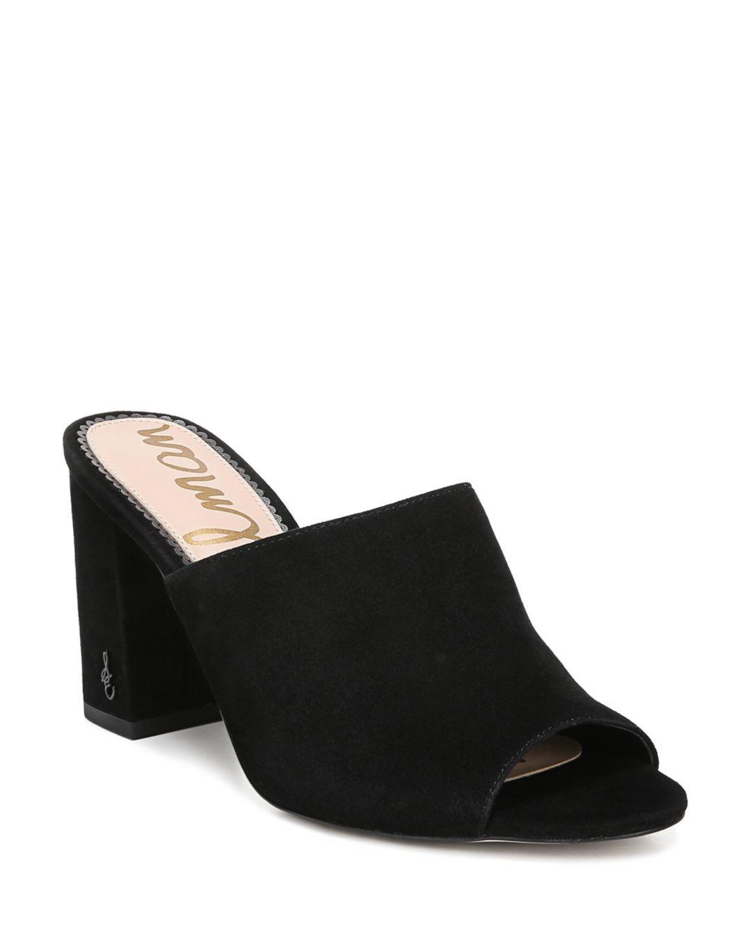 8cf72ec5d04 Lyst - Sam Edelman Women s Orlie Open-toe Block-heel Mules in Black