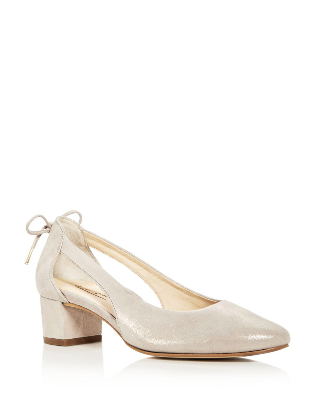 49b9a6fe37 Paul Green Women's Paulina Nubuck Leather D'orsay Block Heel Pumps ...