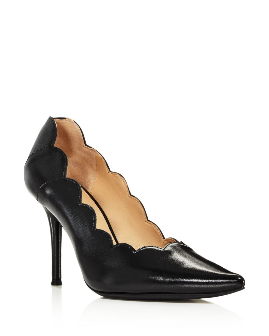 692100300999 Lyst - Chloé Women s Lauren Scalloped Leather High-heel Pumps in ...