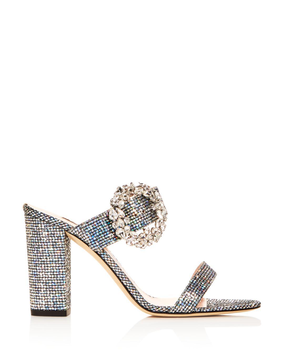 af7af6cc478 Lyst - SJP by Sarah Jessica Parker Women s Celia High Block-heel Slide  Sandals in Metallic