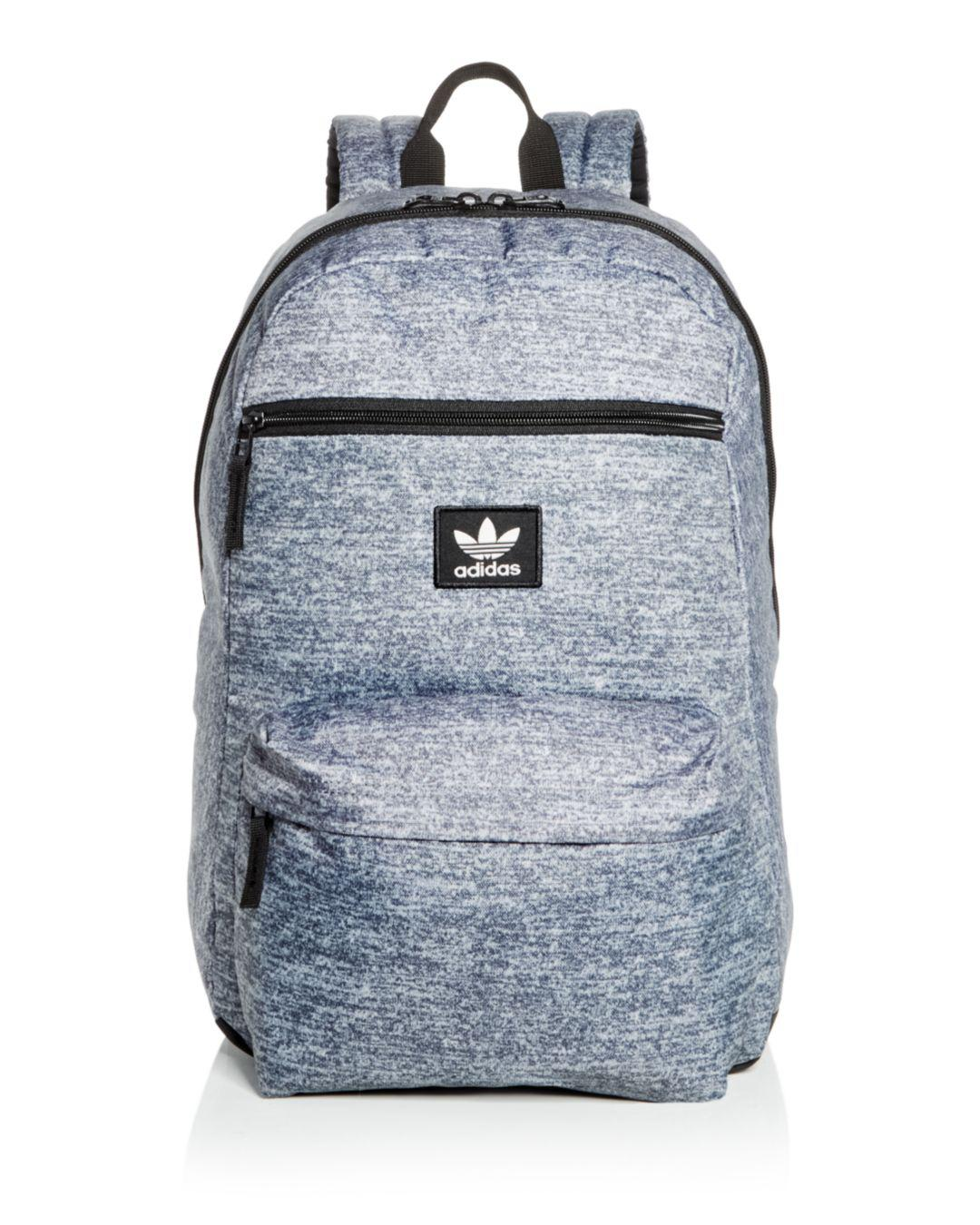 d435f55579 Adidas - Gray Originals National Heathered Backpack for Men - Lyst. View  fullscreen