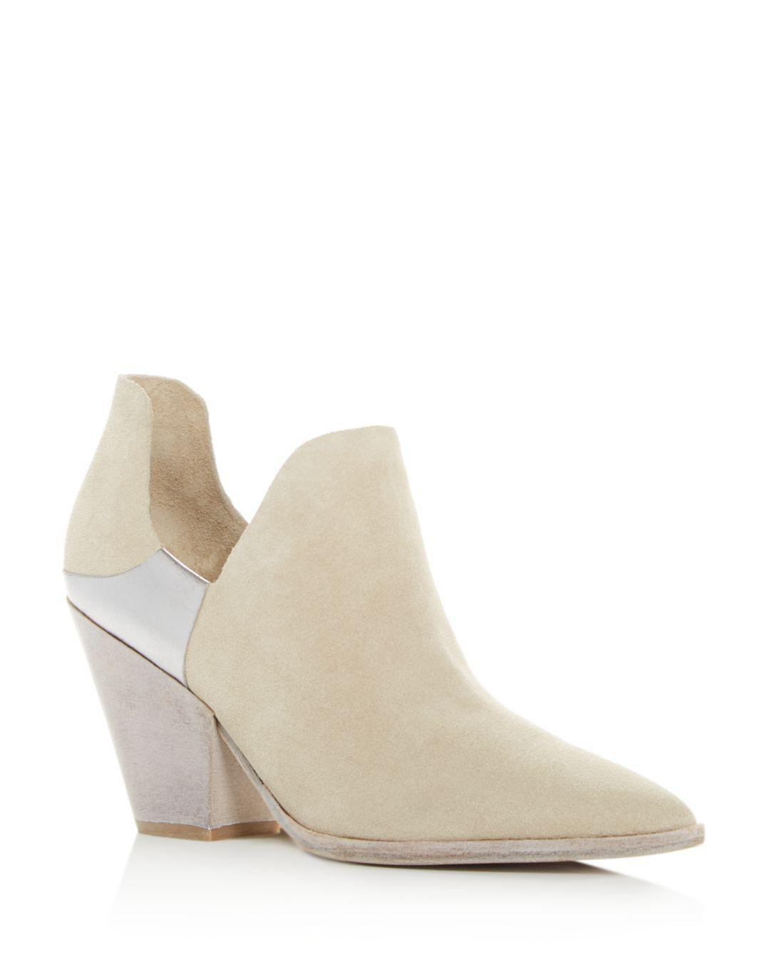 4322f41818f Lyst - Sigerson Morrison Women s Cathy Pointed-toe Booties in Natural