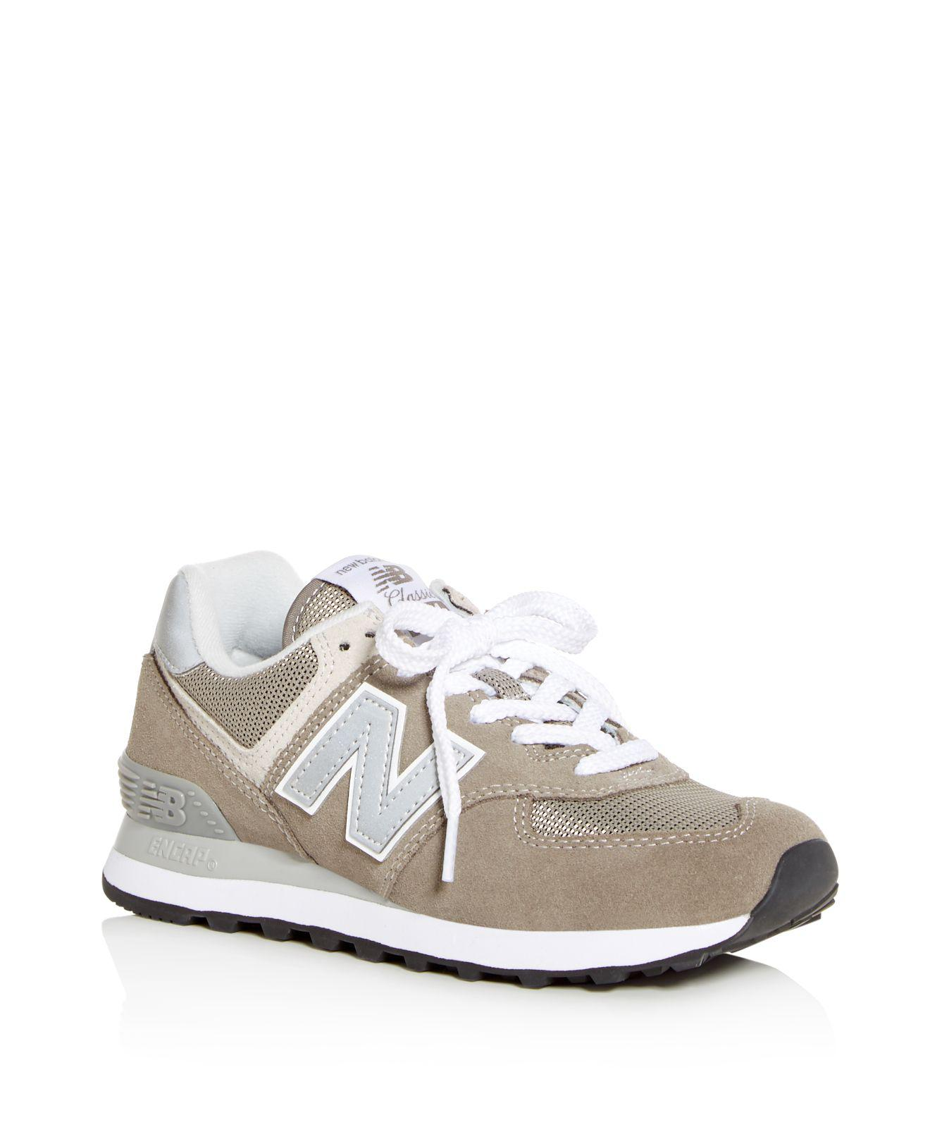 New Balance Women's 574 Suede Lace Up Sneakers yeErCVB7rB