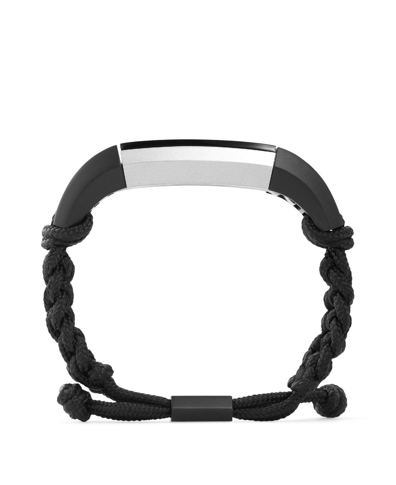 Lyst Public School Paracord Accessory Band For Alta In Black Men Fitbit Metal Bracelet Gallery